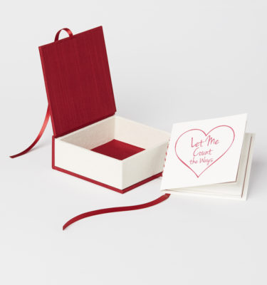 valentine's box, bella forte designs, box, letterpress