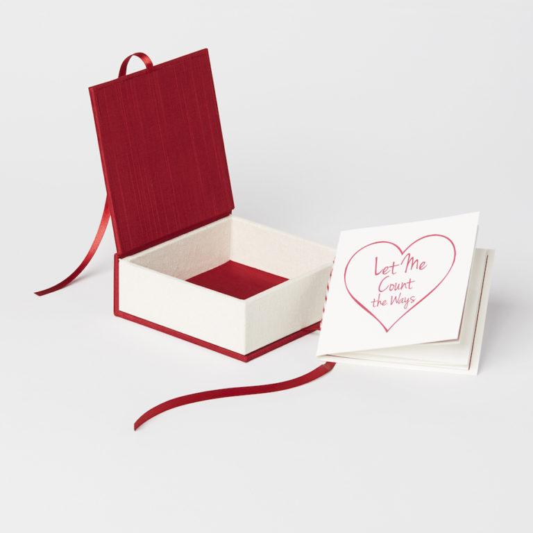 valentine's box, bella forte designs, box, letterpress