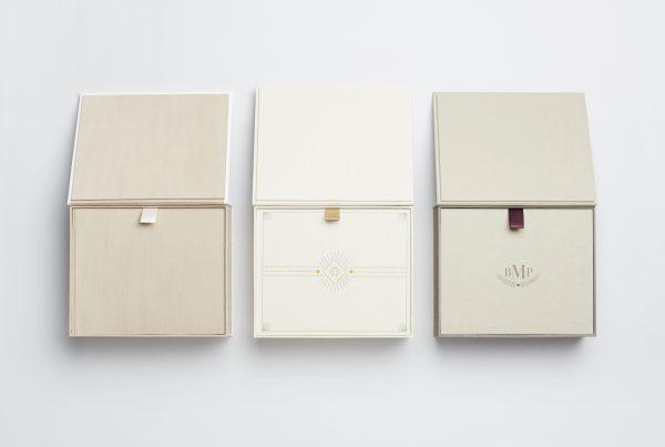 wedding, bella forte designs, guest book, custom clamshell box