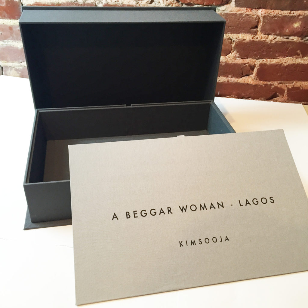 Kimsooja, fine art, conceptual artist, custom clamshell box, bella forte designs, presentation