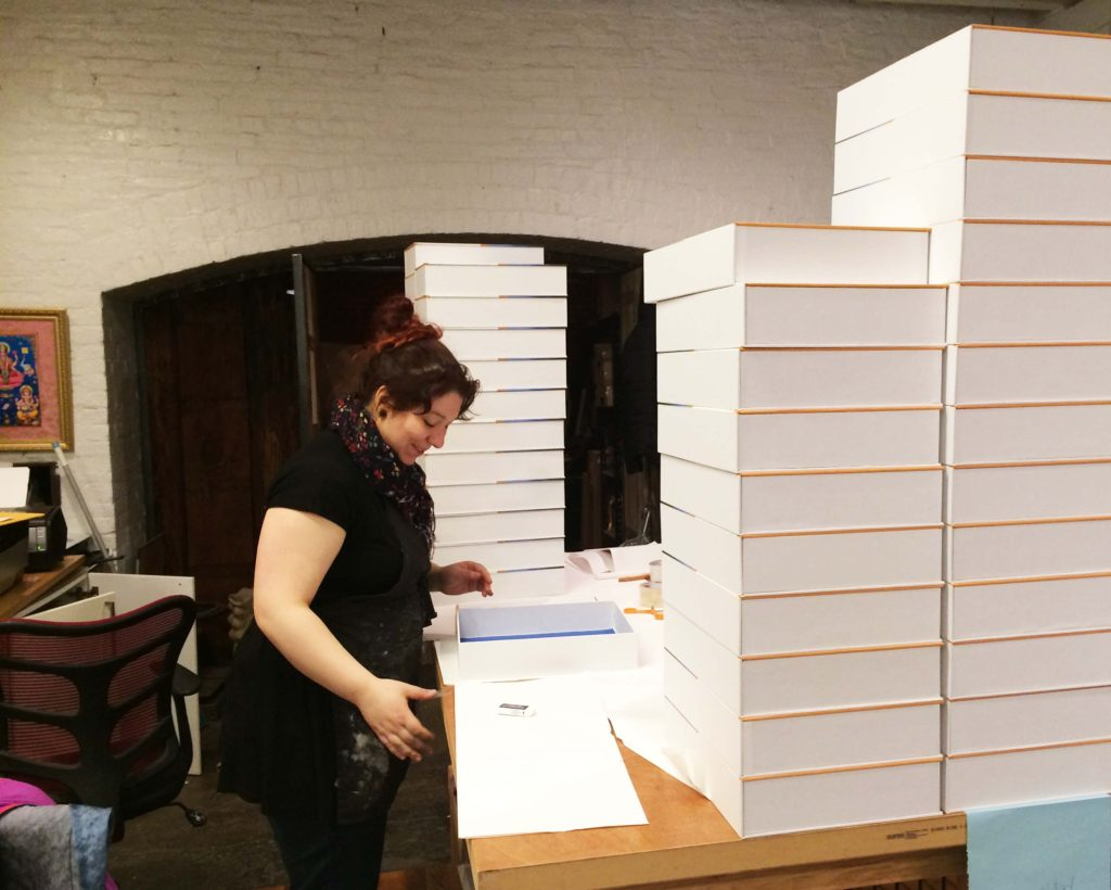 boxed, bella forte designs, production